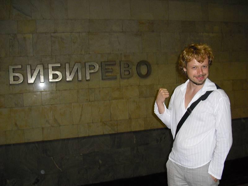 Viktor Dvořák v moskevském metru