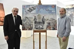 Známky s podobiznami cestovatelů Miroslava Zikmunda a Jiřího Hanzelky.