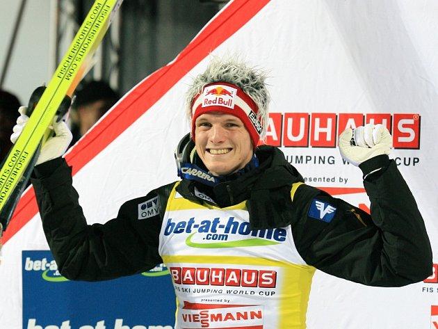 Thomas Morgenstern na snímku z Harrachova