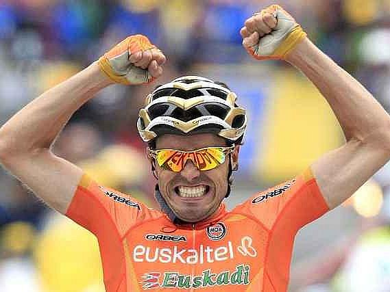 Vítěz dvanácté etapy Tour de France Samuel Sánchez.