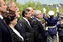Členové nové vlády premiéra Jiřího Rusnoka položili 10. července v Lánech věnec k hrobu prvního československého prezidenta Tomáše Garrigua Masaryka.