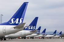 Letouny skandinávské letecké společnosti SAS. Ilustrační foto