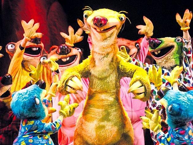 Z filmu na led. Známé postavičky pohádkového příběhu Doba ledová ožijí v show Ice Age Live!, která potěší celou rodinu.