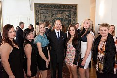 Návštěva prince Edwarda v roce 2013 v Česku.