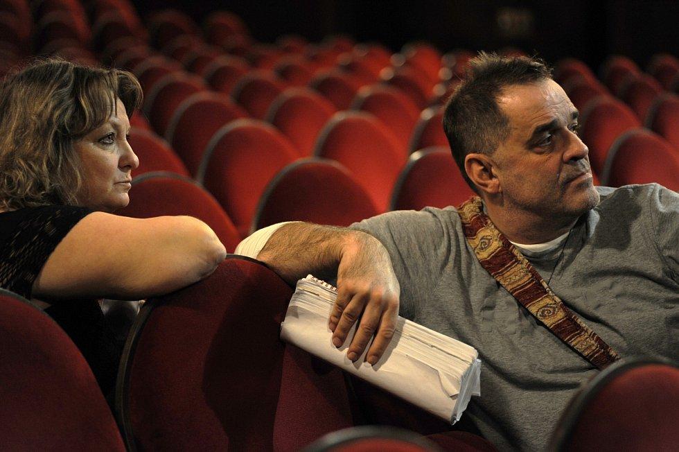 Martina Hudečková s hereckým kolegovou Miroslavem Etzlerem