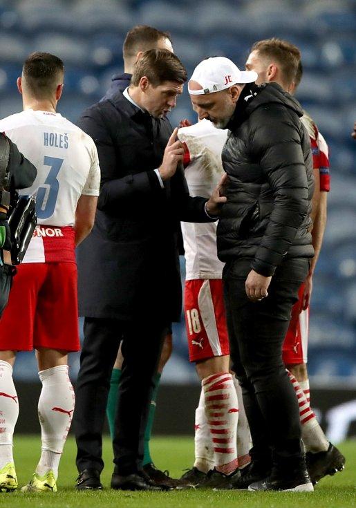 Odveta osmifinále Evropské ligy: Steven Gerrard a jeho diskuse s Jindřichem Trpišovským