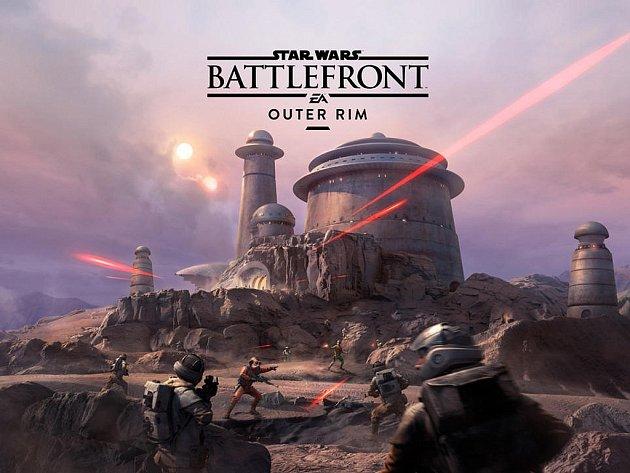 Počítačová hra Star Wars: Battlefront - Outer Rim.