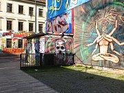 Graffiti na Scheune Clubu v Drážďanech