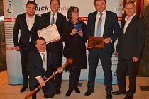 IT projekt roku - vítězové soutěže společně s předsedou CACIO Miroslavem Hübnerem