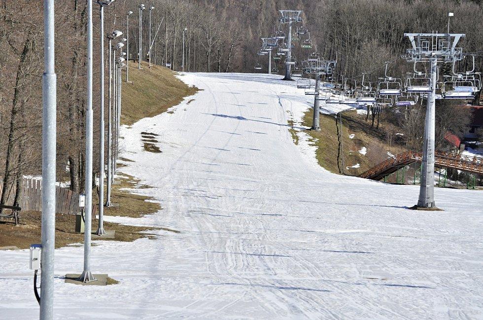 Sport areál Klíny v Krušných horách, Ústecký kraj - 6. března 2021