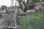 Místo židovského hřbitova na Palmovce.
