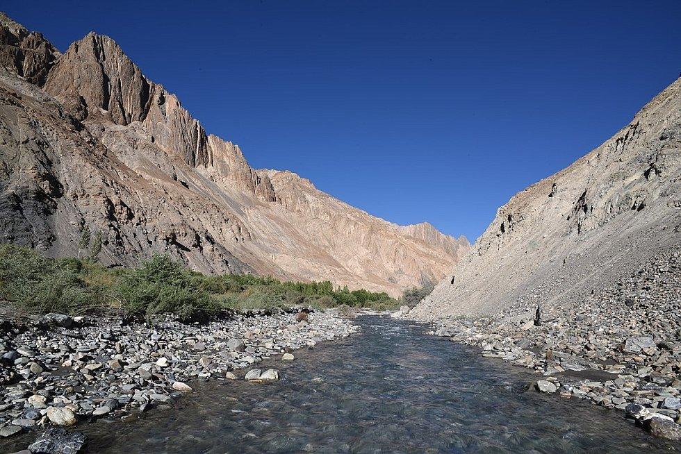 Řeka Marcha v oblasti střední sibiřské plošiny