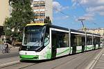 V maďarském Miškovci vyjela na koleje nejnovější tramvaj Škody Transportation (na snímku).