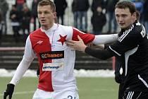 Tomáš Necid v zápase proti Žižkovu