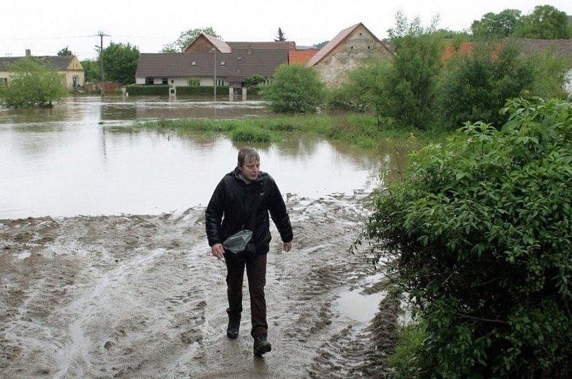 Povodeň na Plzeňsku v roce 2013.