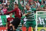 Zápas fotbalové Fortuna ligy mezi Bohemians Praha 1905 a AC Spartou Praha v Ďolíčku.