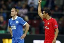 Dněpr - Sevilla: Carlos Arturo Bacca zařídil dva góly