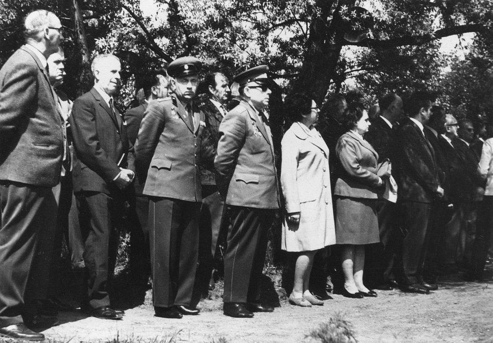 Pietní vzpomínka na popravené na Zámečku 1970
