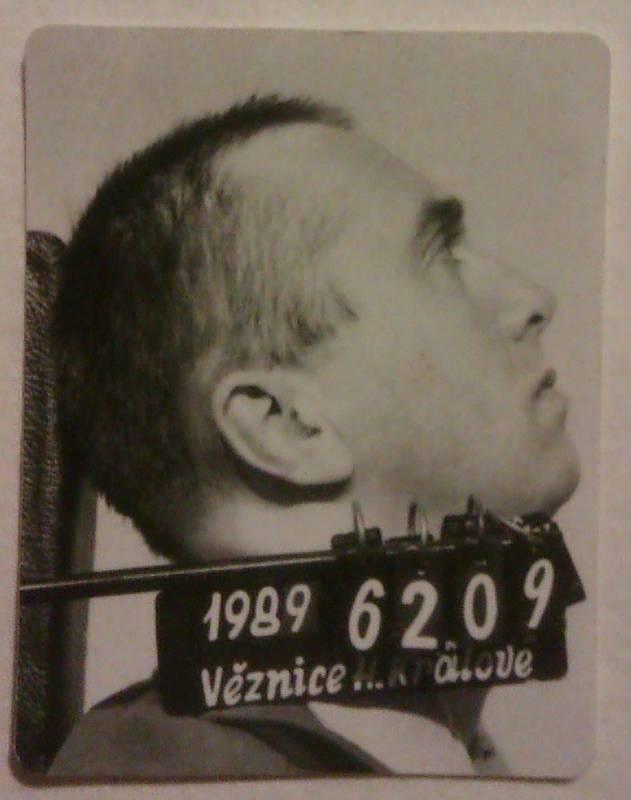 Stanislav Pitaš ve vězení v Hradci Králové v roce 1989