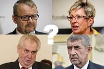 Vybírání nástupců ministrů Dana Ťoka a Marty Novákové