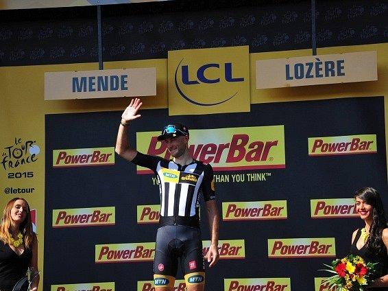 Čtrnáctá etapa Tour de France: Stephen Cummings a jeho radost z triumfu