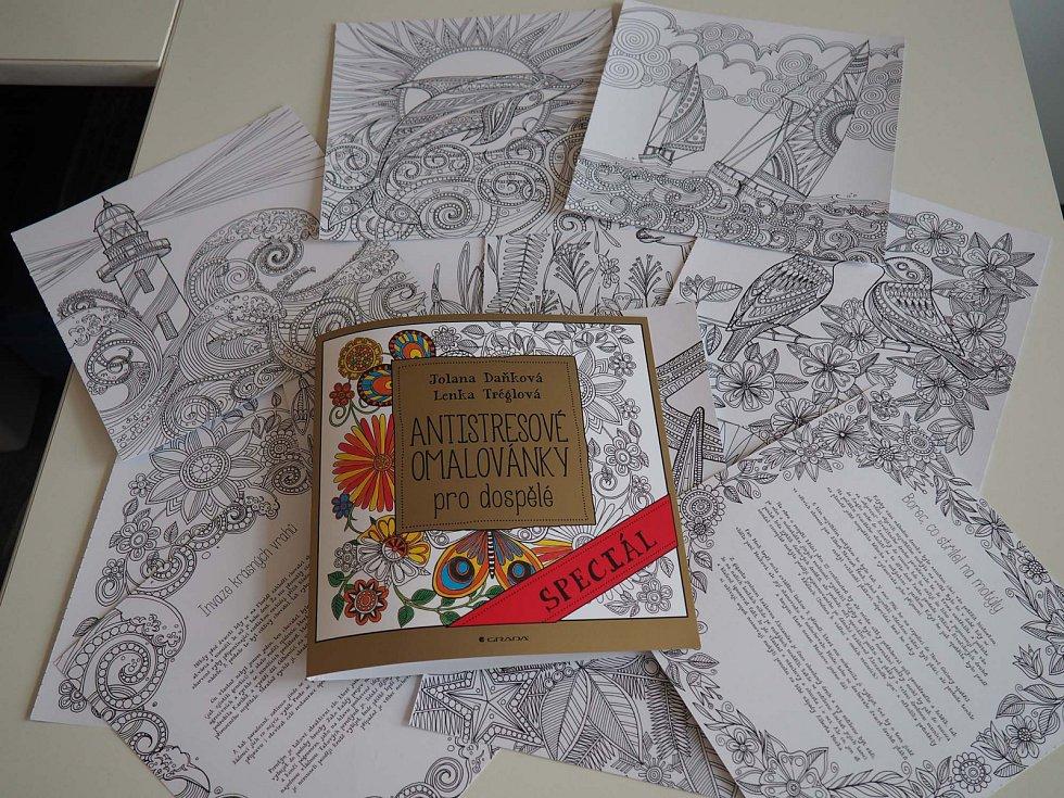 Kniha Antistresové omalovánky od autorek Jolany Daňkové a Lenky Tréglové