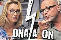 Ona (Kateřina Brožová) a On (Marek Vašut) se vracejí. Ona se svou ženskou logikou a On s mužskou zásadovostí, tvoří vlastně úplně obyčejný, průměrný a naprosto normální manželský pár, který ani o píď  nevybočuje z průměru.