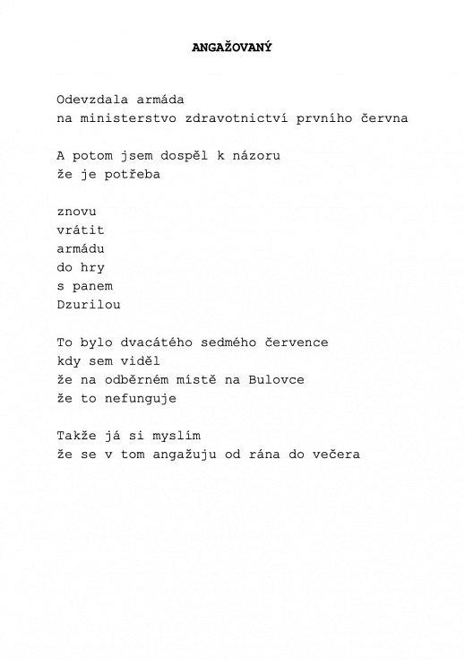 Svérázný slovosled předsedy vlád se proměnil v neméně svéráznou básnickou sbírk