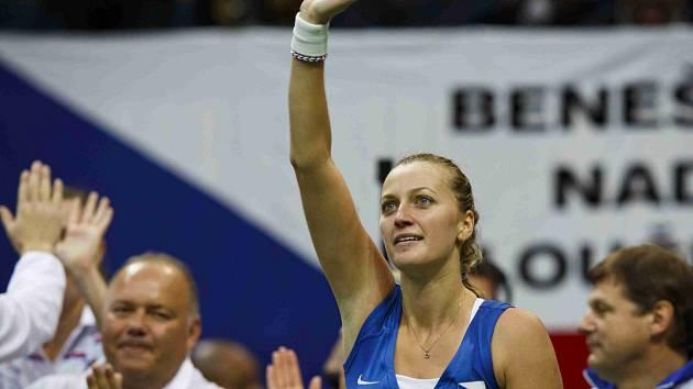 Petra Kvitová vybojovala proti Petkovicové první vítězství pro české barvy.