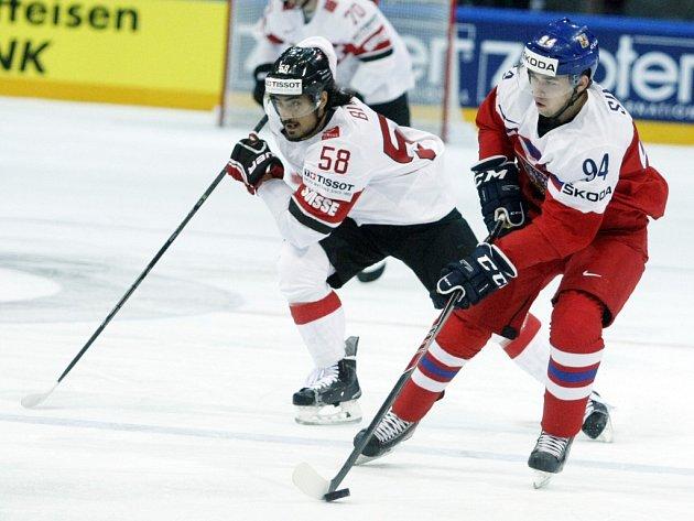 Dominik Simon (vpravo) a Eric Blum ze Švýcarska.