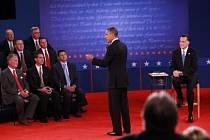 Barack Obama a Mitt Romney v druhé televizní debatě