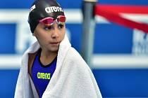 Desetiletá plavkyně Alzain Táriková.