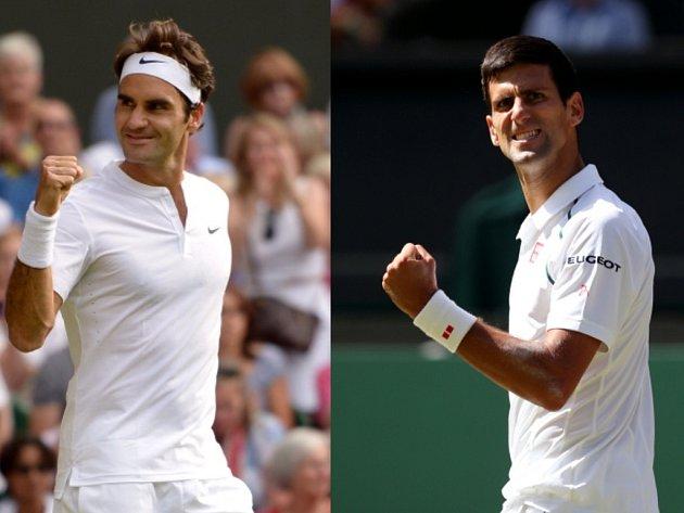 Wimbledon čeká finále snů. Kdo se stane šampionem? Roger Federer (vlevo), nebo Novak Djokovič?