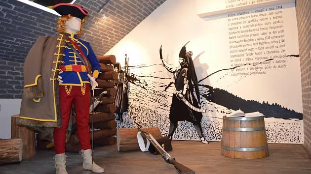 Interaktivní expozice Generál Laudon, která která originálně prezentuje osobnost slavného vojevůdce Laudona