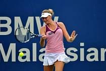 Karolína Plíšková na turnaji v Kuala Lumpuru.