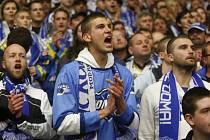 Fanoušci Komety ve finále proti Zlínu.