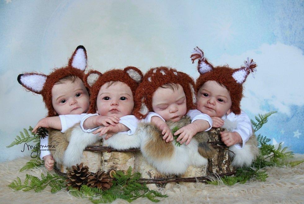 Reborn panenky, které vyrábí Dagmar Němcová.