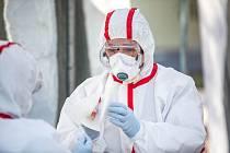 Testování na nákazu koronavirem