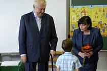 Prezident Miloš Zeman zahájil školní rok v Základní škole Charlotty Garrigue Masarykové v Lánech.