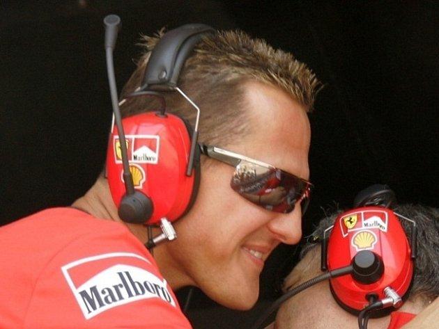 Nejlepší jezdec formule jedna v historii Němec Michael Schumacher přijel do Brna