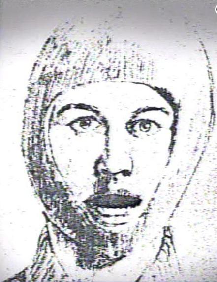 Podobizna pachatele, která vznikla na základě vzpomínek znásilněné ženy. Pachatelem činu byl DeAngelo.