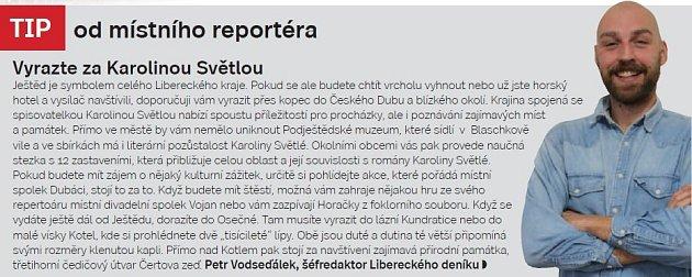 Liberecko, tip šéfredaktora