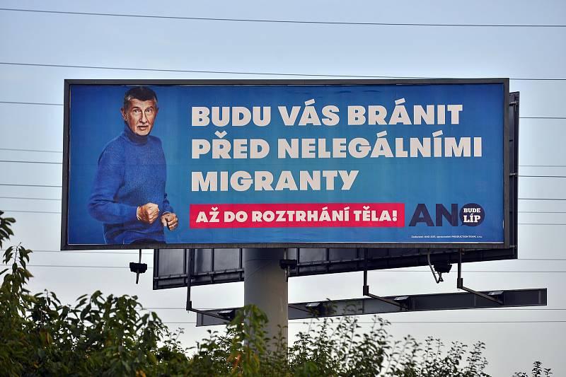 Hnutí ANO premiéra Andreje Babiše sází ve své předvolební kampani i na téma migrace…