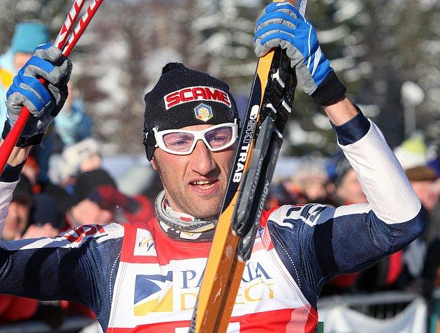 Vítěz Jizerské 50 Ital Marco Cattaneo.