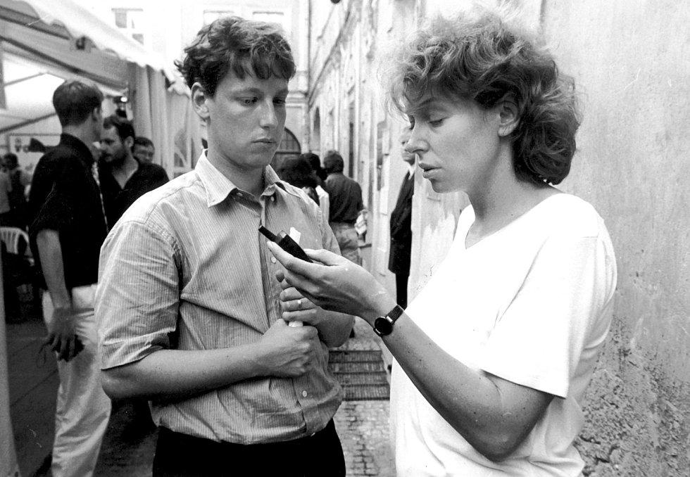 Petra Buzková a Stanislav Gross, rok 1996.