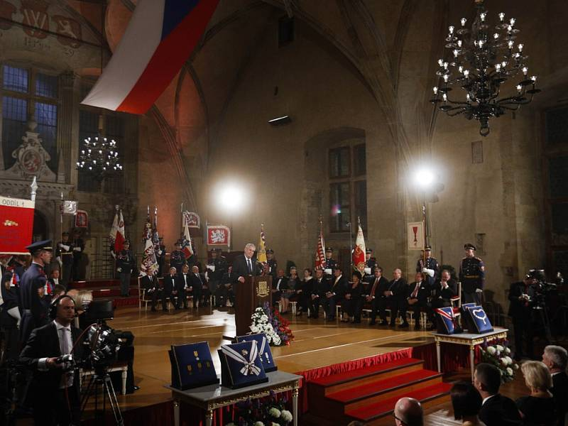 Ceremonie na Pražském hradě: prezident Miloš Zeman ocenil i dva bývalé sportovce