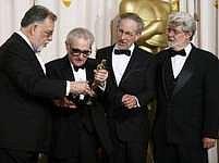 F. F. Coppola, Martin Scorsese, Steven Spielberg a George Lucas na Oscarech