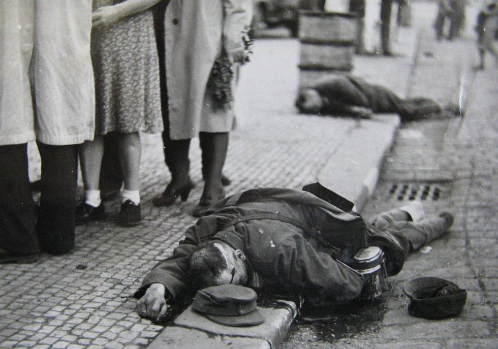 Pražské povstání, padlý na ulici
