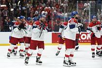 Mistrovství světa v Bratislavě - zápas o bronz mezi Českem a Ruskem.