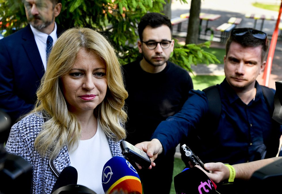 Nastupující slovenská prezidentka Zuzana Čaputová